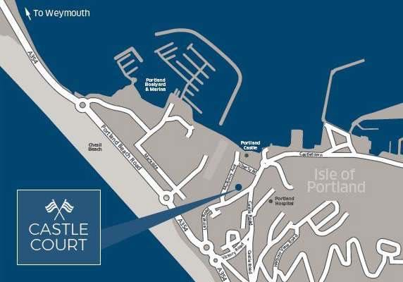 Castle Court Portland, Dorset - Map