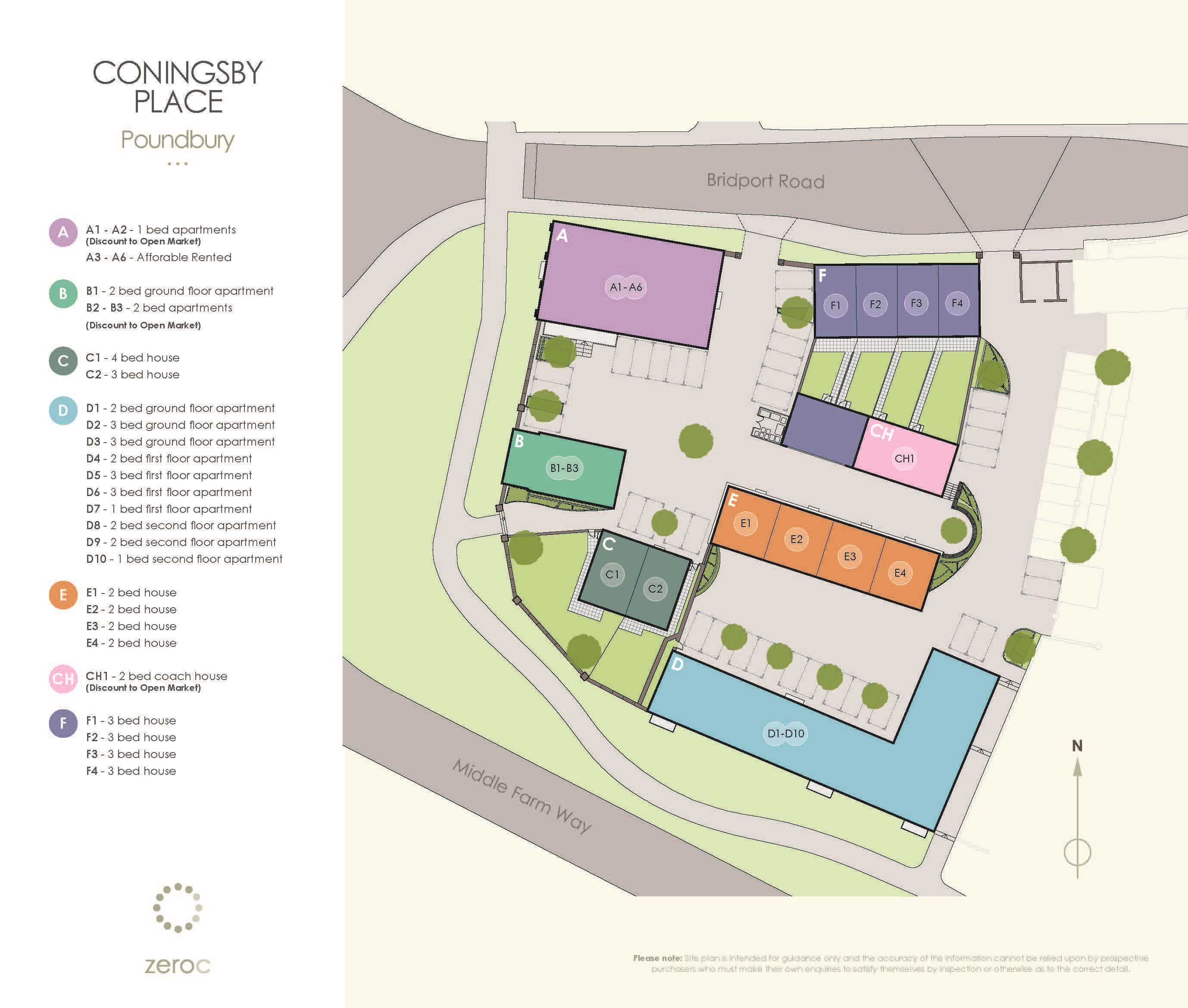 Coningsby Place site plan